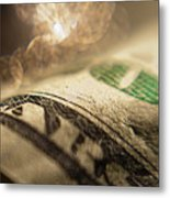 Money With Bokeh Metal Print