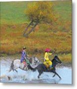 Mongolian Rider Metal Print