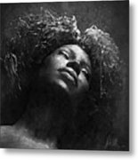 Monique I Bw Metal Print