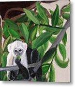 Monkey Detail 2 From Mural Metal Print