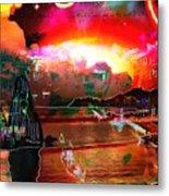 www.nospankingthemonkey.com Monkey Painted Italy On A Moon Lit Night Metal Print