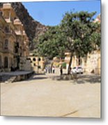 Monkey Temple Courtyard Metal Print
