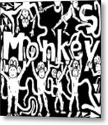 Monkeys Maze For M Metal Print