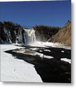 Montmorency Fall, Winter Metal Print