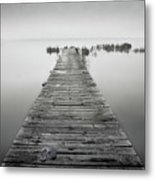 Mono Jetty With Sandals Metal Print by Billy Currie Photography