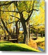 Mono Lake Garden Bridge Metal Print
