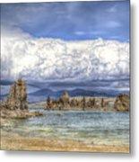 Mono Lake Tufas And Clouds Metal Print