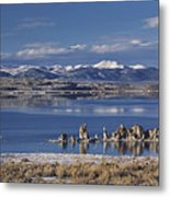 Mono Lk Winter Metal Print