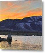 Mono Sunset Metal Print