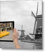 Monochromatic Concept Travel To Netherlands Metal Print