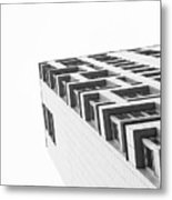 Monochrome Building Abstract 4 Metal Print