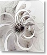 Monochrome Flower Metal Print