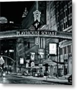 Monochrome Grayscale Palyhouse Square Metal Print