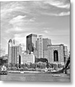 Monochrome Pittsburgh Panorama Metal Print