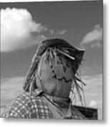 Monochrome Scarecrow Metal Print