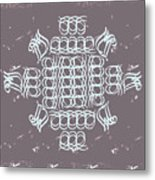 Monogram Qm Ivory Slate Metal Print
