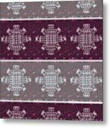 Monogram Qm Plum Wine Slate 2 Metal Print