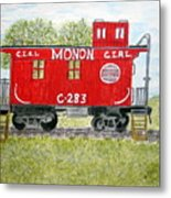 Monon Wood Caboose Train C 283 1950s Metal Print