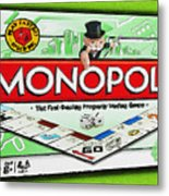 Monopoly Board Game Painting Metal Print