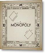 Monopoly Board Patent Vintage Metal Print
