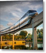 Monorail At Golden Hour Metal Print