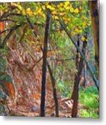 Monrovia Canyon In Fall Metal Print