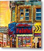 Monsieur Falafel Metal Print