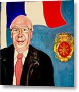 Monsieur Jean Claude Darque. Le Maire De Auchy Les Hesdin Metal Print