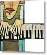 Monsieur Keys Metal Print