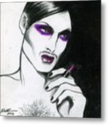 Monsieur-madame Metal Print