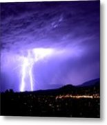 Monsoon Over Sedona Metal Print