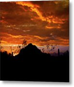 Monsoon Sunset  Metal Print