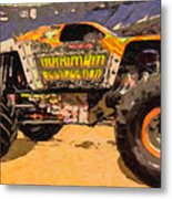 Monster Jam Party In The Pits Metal Print