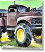 Monster Truck - Grave Digger 3 Metal Print