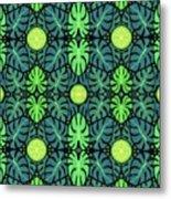 Monstera Leaves Pattern Metal Print
