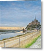 Mont St Michel At Sunset  Metal Print
