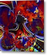 Montage In Reds And Blues Metal Print