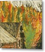 Montain Hide Out Metal Print