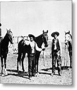 Montana: Cowboys, C1895 Metal Print