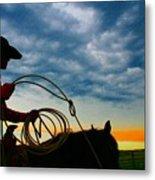 Montana Cowgirl ... Montana Art Photo Metal Print