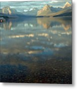 Montana Lonely Boat Metal Print