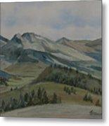 Montana Skyline Metal Print