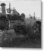 Montana Steam Farm Tractor Metal Print