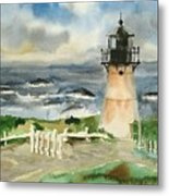 Montara Lighthouse, Plein Air Metal Print