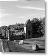 Montauk Guard House B W Metal Print