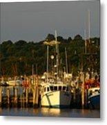 Montauk Harbor At Dawn Metal Print