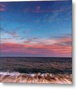 Montauk Pink Surf Metal Print