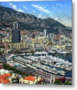 Monte Carlo Harbor View Metal Print
