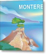 Monterey Bay California Horizontal Scene Metal Print