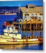 Monterey Bay Fishing Boat Metal Print
